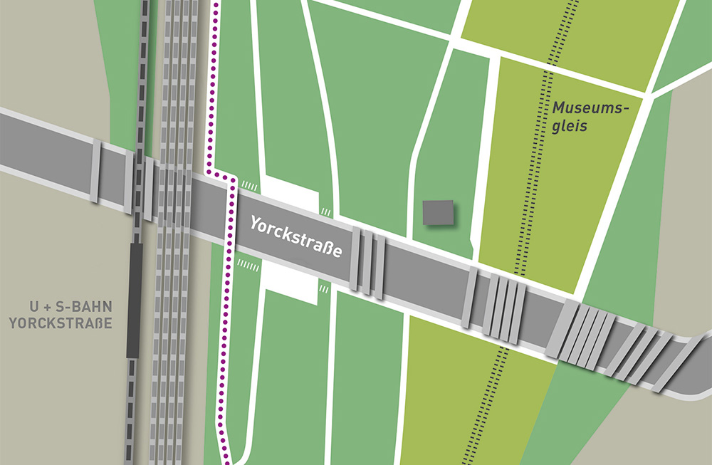 Karte Standorte Yorckbrücken