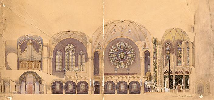 Auch der Entwurf für die Berliner Gedächtniskirche stammt von Franz Schwechten.