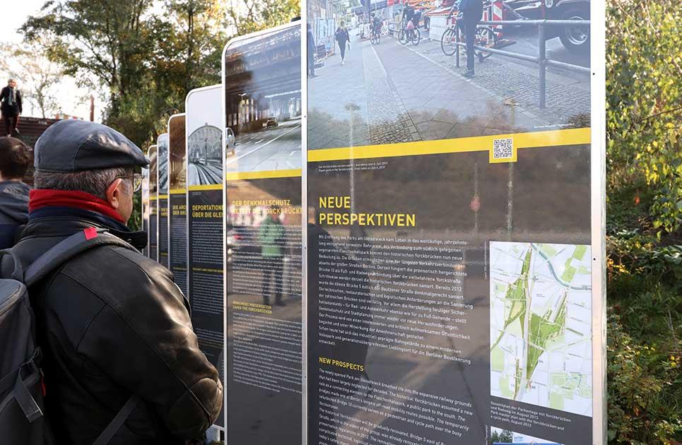 Exhibition opening Geschichtsparcours Yorckbrücken