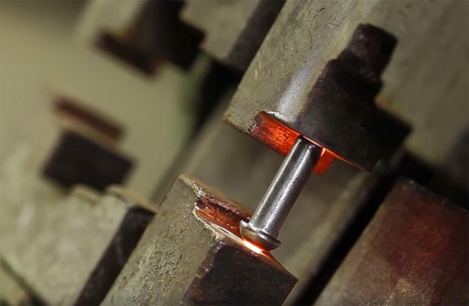 Standardised DIN rivets
