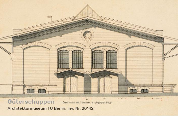 Historische Abbildung Güterschuppen, Franz Schwechten